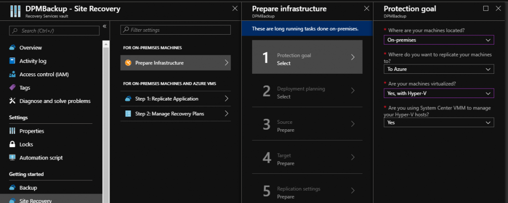 Configure Azure Site Recovery with Virtual Machine Manager