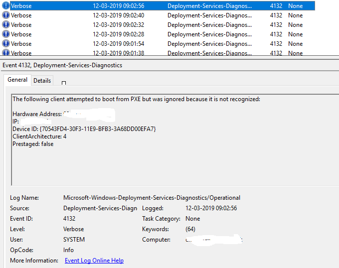 VMM Bare Metal Deployment stops working with WDS